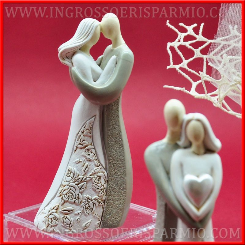 Matrimonio Tema Amore : Statuine sposi cuore romantici originali idee per nozze