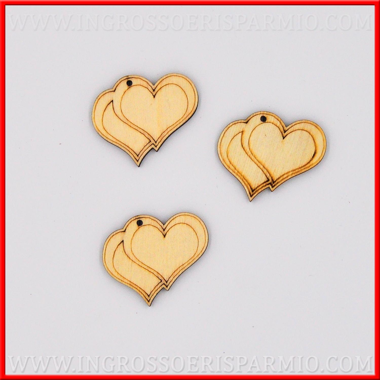 Bomboniere Legno Per Matrimonio.Cuori In Legno Applicazione Per Bomboniere Fai Da Te Matrimonio