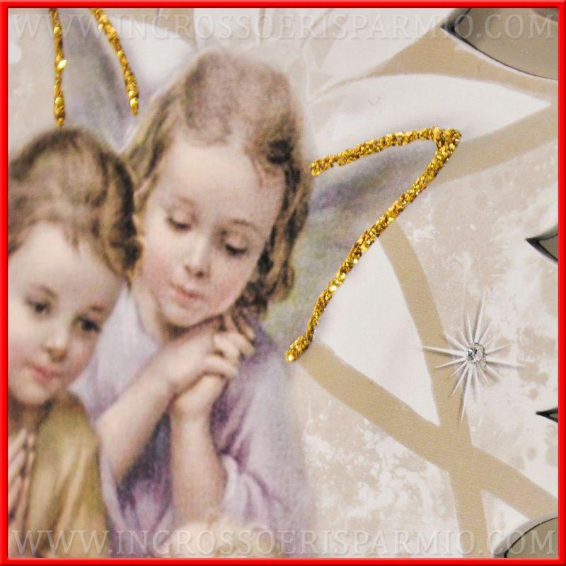 quadri con angeli custodi e bambino a bomboniere battesimo
