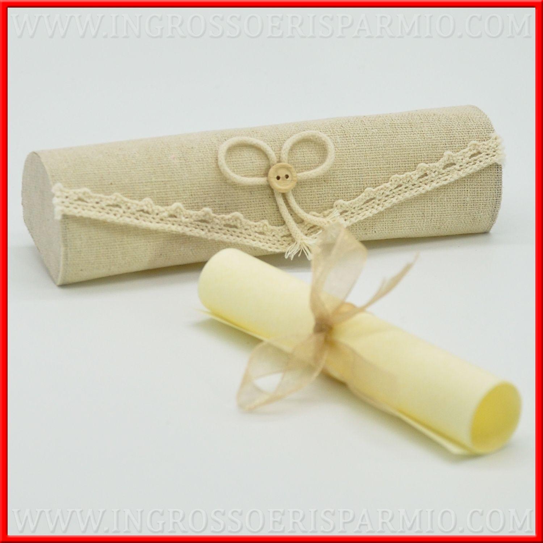 Partecipazioni Matrimonio Pergamena.Partecipazioni Matrimonio Pergamena Con Astuccio In Juta Online