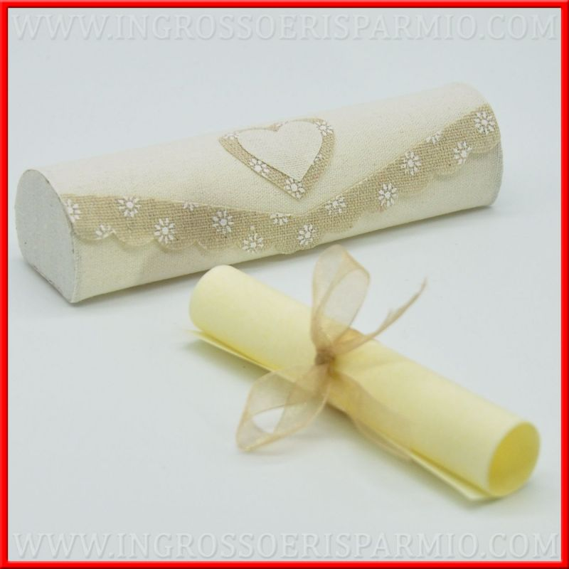 Partecipazioni Matrimonio In Juta : Partecipazioni fai da te nozze pergamena e cofanetto juta
