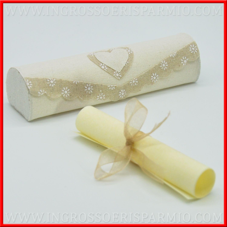 Partecipazioni Per Matrimonio Fai Da Te.Partecipazioni Fai Da Te Nozze Pergamena E Cofanetto Juta Cuore
