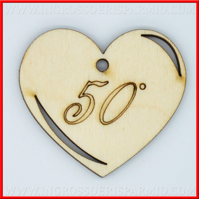 Bomboniere 50 Anni Matrimonio.Decorazioni Cuore Bomboniere 50 Anni Matrimonio Legnetti