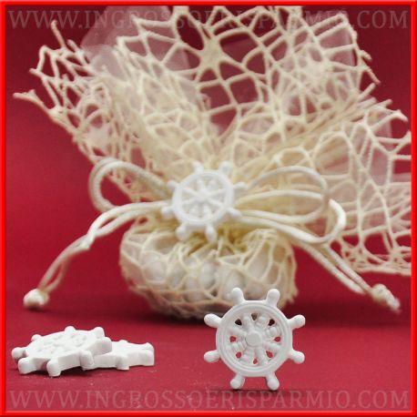Timone in gesso bianco decorazioni economiche tema marino - Decorazioni gesso ...