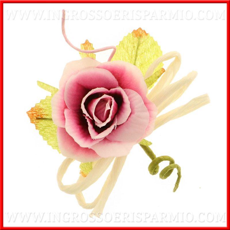 Fiori decorativi rosa accessori confezionamento bomboniere for Accessori decorativi