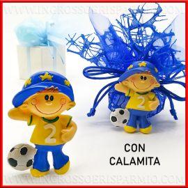 BOMBONIERE CALCIATORE CON CALAMITA COMUNIONE/COMPLEANNO BIMBO MAGNETI ONLINE