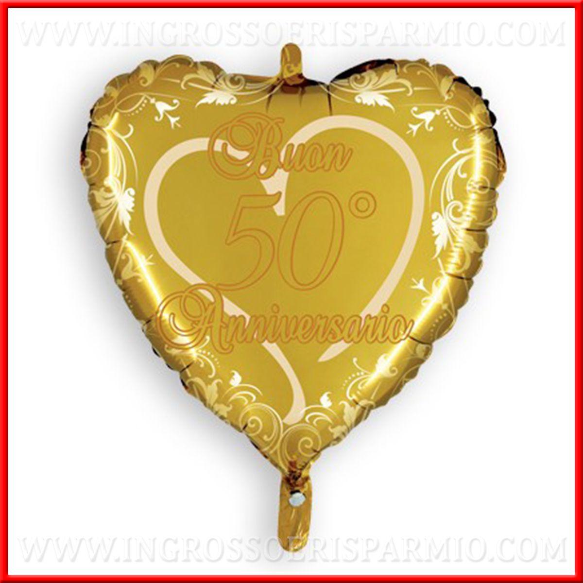 50 Anni Anniversario Matrimonio.Palloncini Cuore Oro 50 Anni Matrimonio 45cm Decorazioni