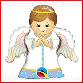 MINISHAPE ANGIOLETTO PALLONCINI PRIMA COMUNIONE BATTESIMO A FORMA DI ANGELO BOY MASCHIO SACRO PREZZI OFFERTA