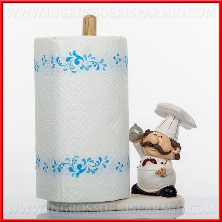 Portarotolo Cucina Resina Con Cuoco Idee Regalo Bomboniere Nozze Doni Bomboniere Srl