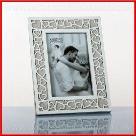CORNICI FOTO IN LEGNO DECORO CUORE MATRIMONIO STILE SHABBY