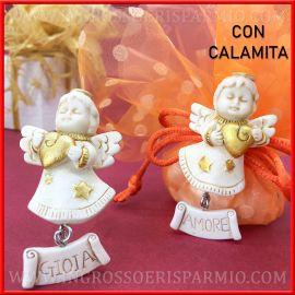 CALAMITE ANGIOLETTI AMORE/GIOIA OGGETTINI BATTESIMO COMUNIONE
