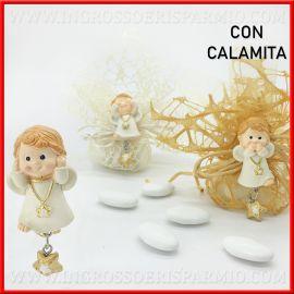 CALAMITE ANGELI SPIRITOSI CIONDOLO STELLA BATTESIMO E COMUNIONE