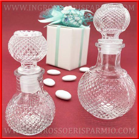 Bottiglie Bomboniere Matrimonio Prezzi.Bottiglia Liquore Bomboniera Vetro Decorato Offerta Prezzi