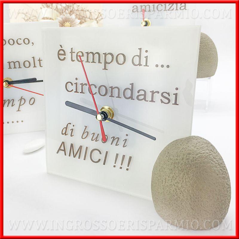 Orologi da tavolo in vetro con frasi moderni matrimonio for Orologi da tavolo moderni