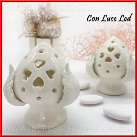Bomboniere Matrimonio In Ceramica.Pomo Pugliese Bomboniere Matrimonio Lume Ceramica Bianca